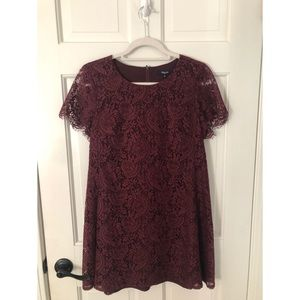 Madewell lace shift dress